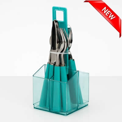 16 pcs Cutlery in holder