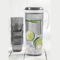 5pcs Pitcher Set Smoke 1.5ltr